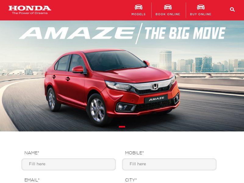 HondaCarIndia.com Amaze CPL - India