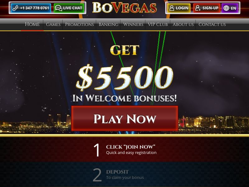 BoVegas Casino - AU, SE, CH, DE, CA, NO, DK, FR, UK, NL, US (AU,CA,DK,FR,DE,NL,NO,SE,CH,GB,US), [CPA], Gambling, Casino, Deposit Payment, million, lotto