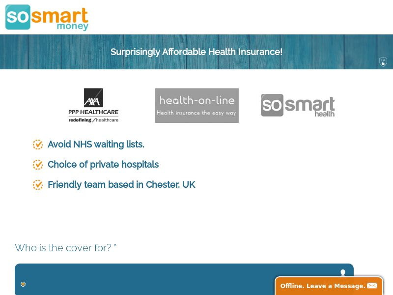 SoSmartMoney - Health Insurance - UK [DIRECT]