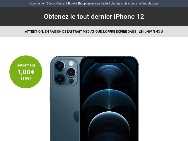 ClubBundleShopping - iPhone 12 V2 (FR, BE) (Trial) (Personal Approval)