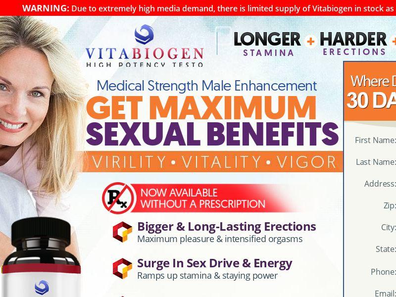 Vitabiogen Male Enhancement Trial - US