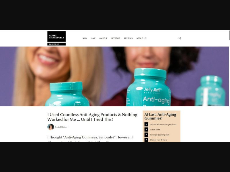 JellyJim Anti Aging Gummies - Presell Page - Skin Care - SS - NO SEO - [US]