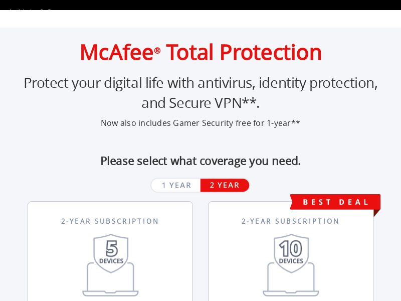 McAfee Consumer (US) (CPS) (Incent) (Personal Approval)