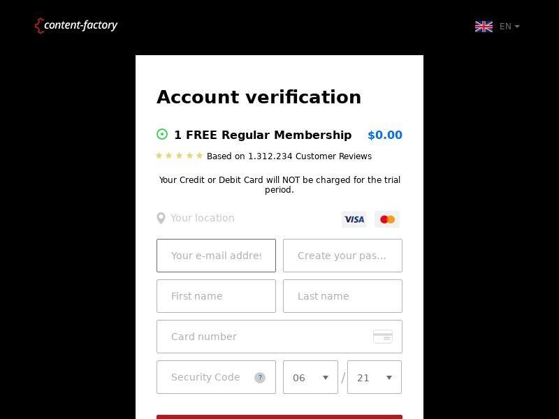 (14081) [WEB+WAP] Content Factory - DE - CPA cc submit