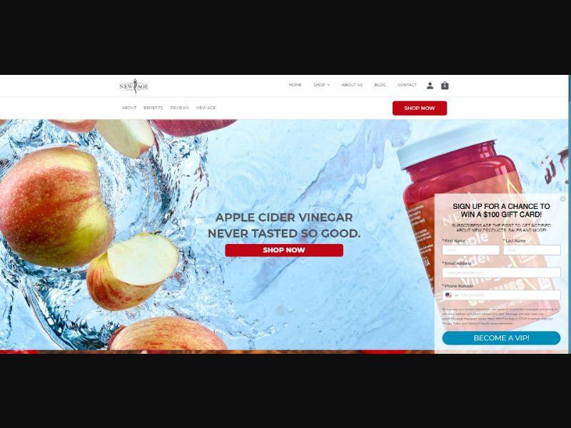 New Age Apple Cider Vinegar Gummies - Health - SS - [US]