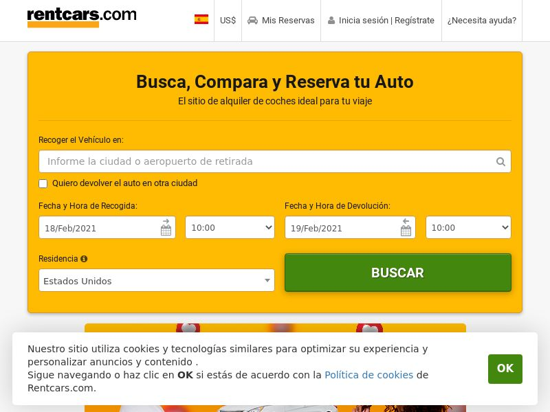 Rent Cars - ES (ES), [CPS], Transport and Travel, Transport, Sell, holiday
