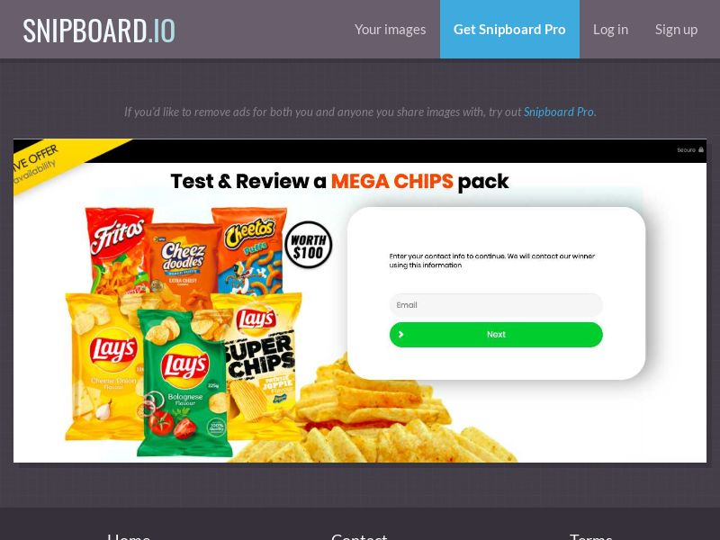 36905 - US - YouSweeps - Test and Review a Chips Pack - SOI