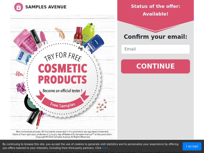 Get Free Cosmetic Products - Sweepstakes - US