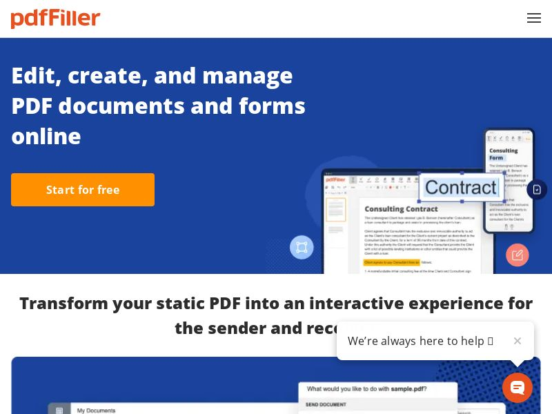 pdfFiller.com - PDF Editing Online - Free trial - [US, CA, UK, AU, FR, ES, DE, SG, IE, NZ]