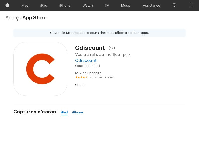 Cdiscount - iOS - FR (KPI: CR above 10% and no boots) - Incent OK - PRIVATE
