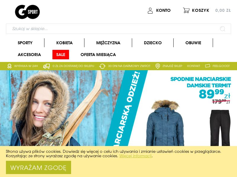 Go-sport - PL (PL), [CPS], Fashion, Clothes, Shoes, Accessories and additions, Accessories, Presents, Sport & Hobby, Sell, shop, gift