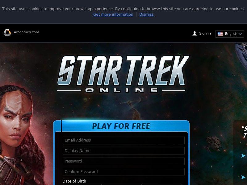 Star Trek Online - Register & Login CPE | AU CA NZ UK US