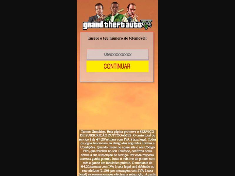 GTA 5 - PIN - SMS flow - PT - Online Games - Mobile