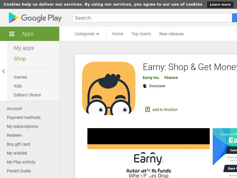 Earny: Shop & Get Money Back Android CPE