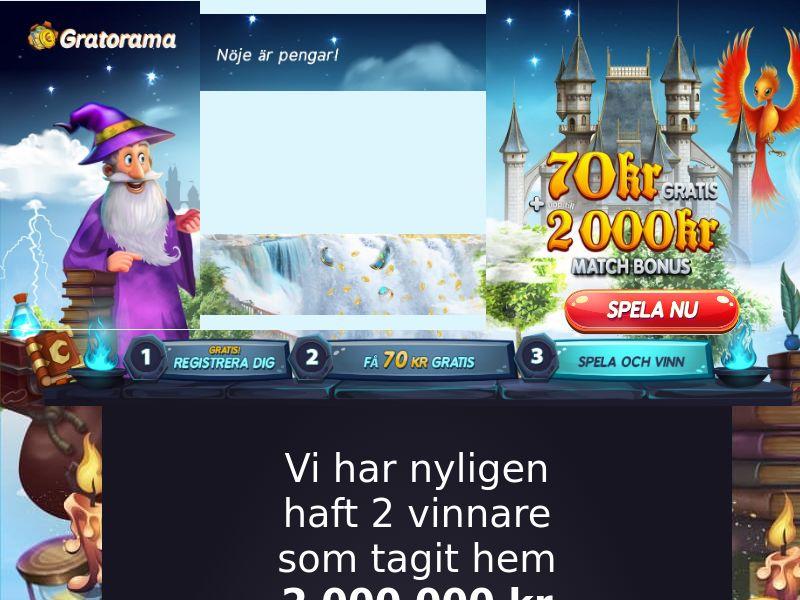 Gratorama SE (SE), [CPA], Gambling, Casino, Credit Card Submit, Deposit Payment, million, lotto