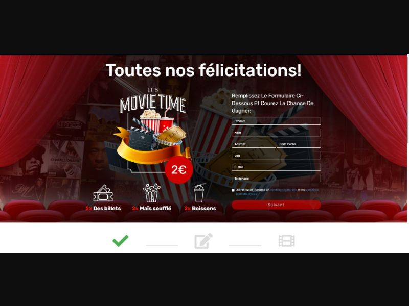 Cinema Gift Card - Sweepstakes & Surveys - Trial - [FR]