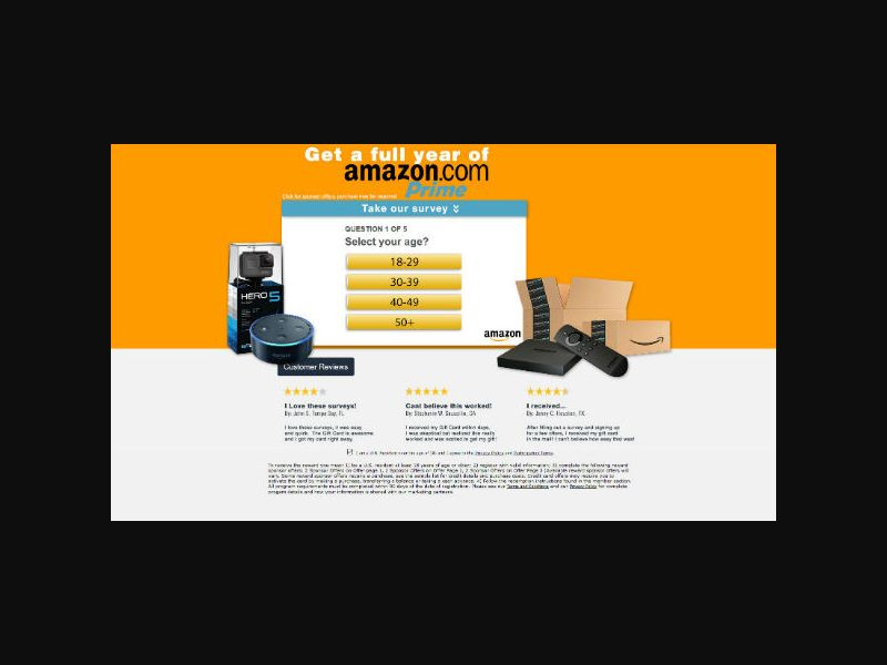 Amazon Prime for a Year - SOI (US)