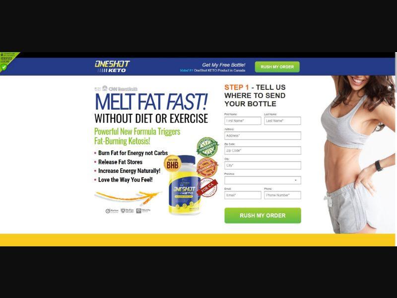 One Shot Keto - Diet & Weight Loss - SS - NO SEO - [CA]
