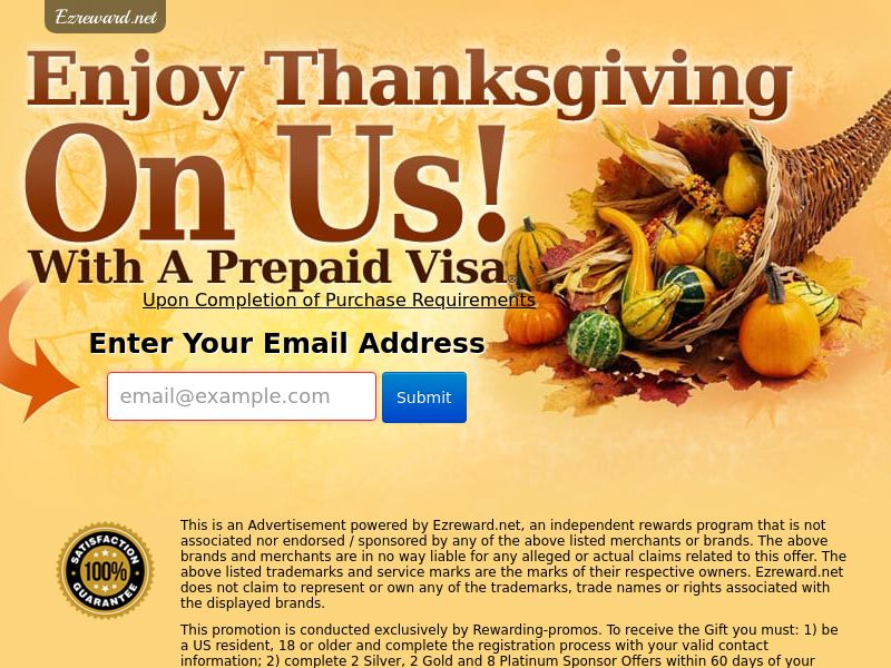 Incent - Email Submit Thanksgiving GC V2 - US