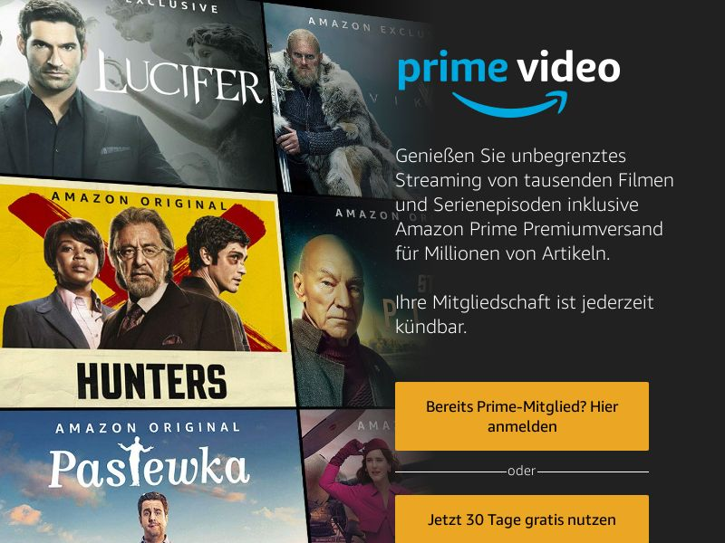 Amazon Prime Video - DE (DE), [CPL], Entertainment, Movies & VOD, cinema, tv, series, film, stream