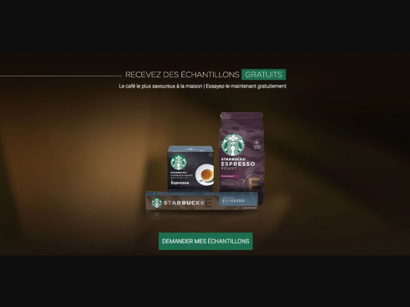 Starbucks - CPL SOI - FR - Sweepstakes - Responsive