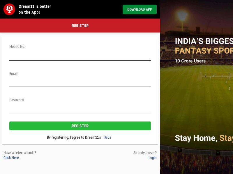 Dream11.com Android APK CPR - India (Non-incent)