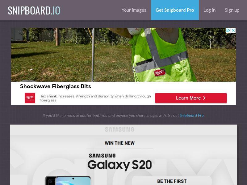 MagnificentPrize - Samsung Galaxy S20 Dark UK - CC Submit
