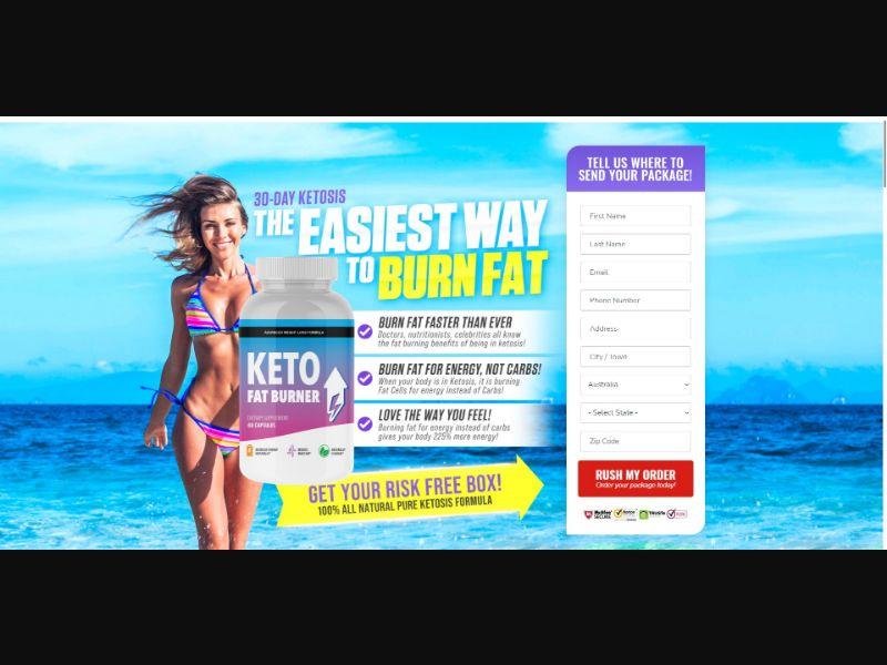 Keto Fat Burner - Diet & Weight Loss - SS - [AU, NZ]