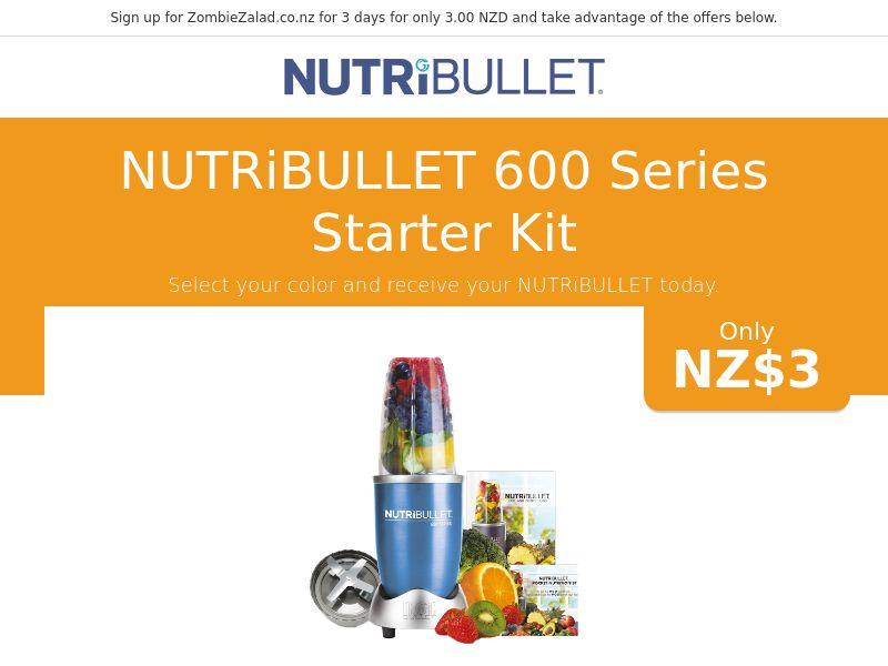 Nutribullet 600 Series Starter Kit - NZ