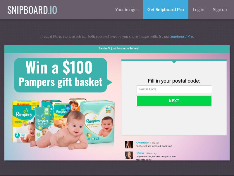 36901 - AU - YouSweeps - Win $100 Pampers Baby package - SOI