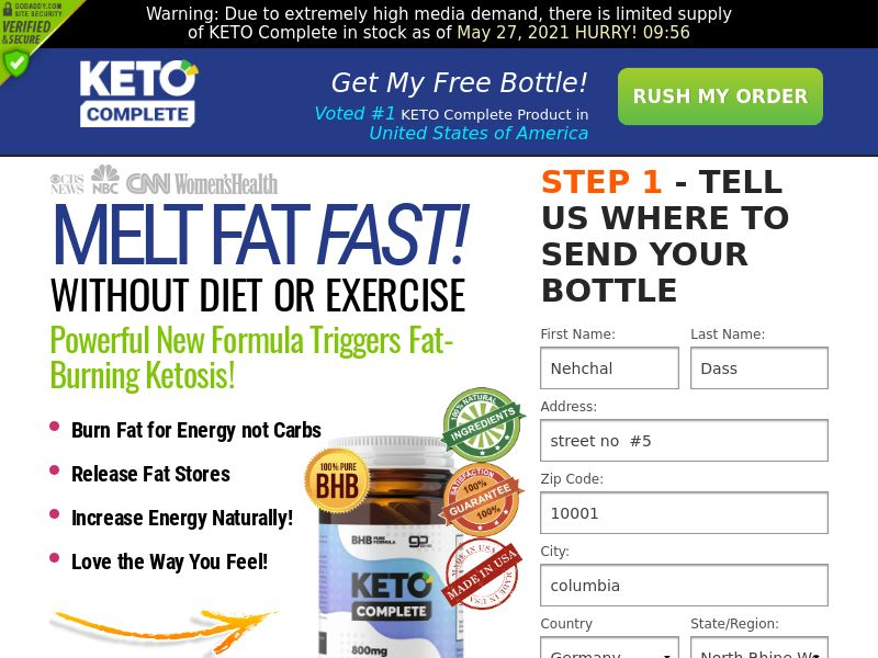KETO Complete Diet (CPA) (INTL)