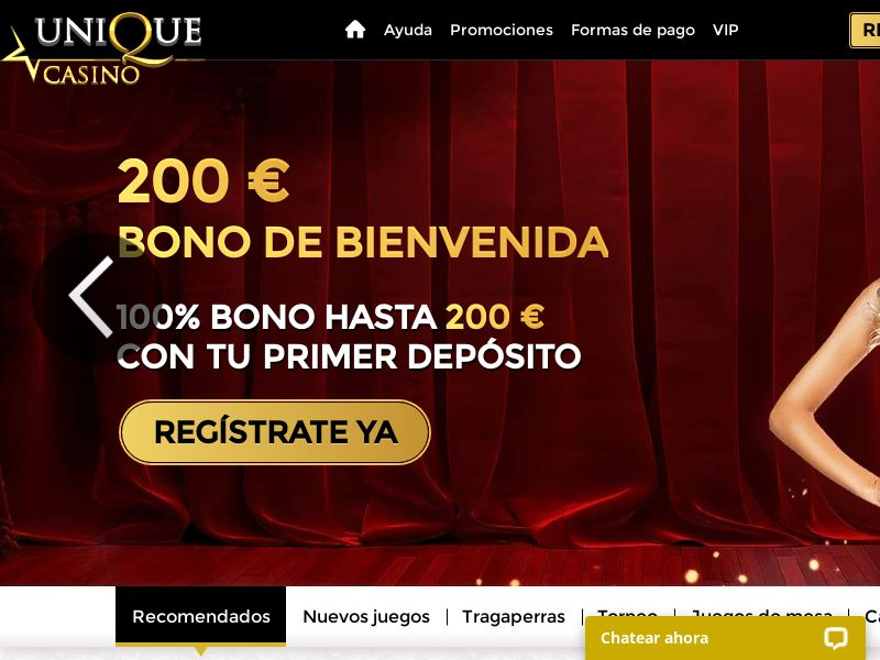 Unique Casino - $200 Welcome Bonus + 20 Free Spins - Spain [CPL]