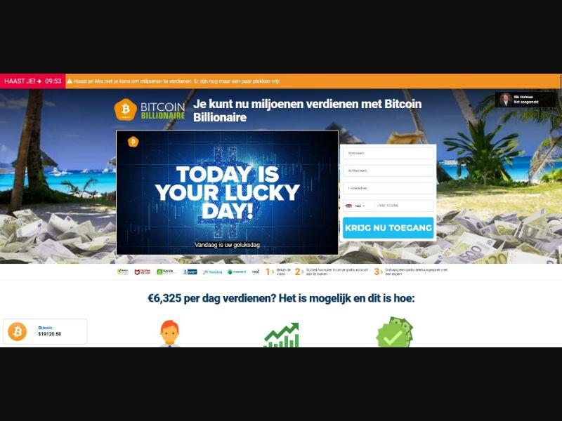 Bitcoin Billionaire - $250 min CTC - VSL - Crypto - SS - [9 GEOs]