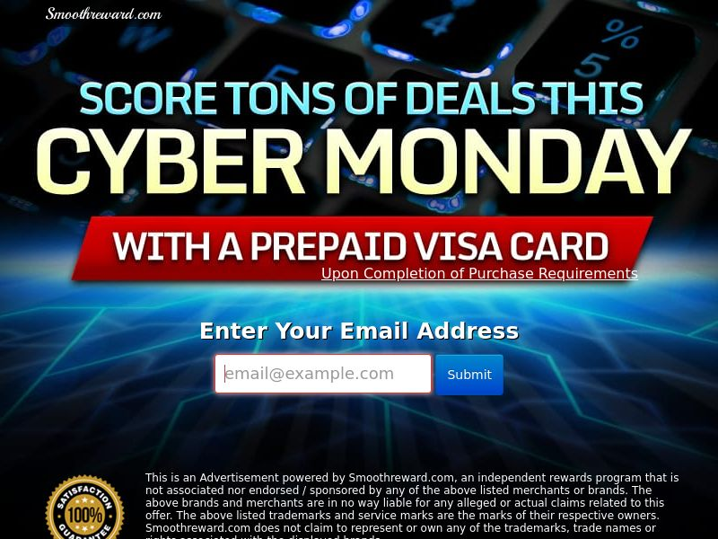 Cyber Monday Gift Card - Networks - US - CPL - DIRECT