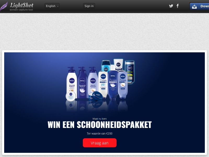 Lead Market - Nivea €200 Giftcard (NL) (CPL) (Personal Approval)