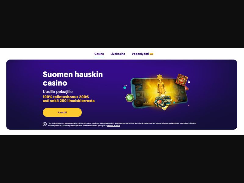 Casumo Casino (FI) (CPS) (Personal Approval)