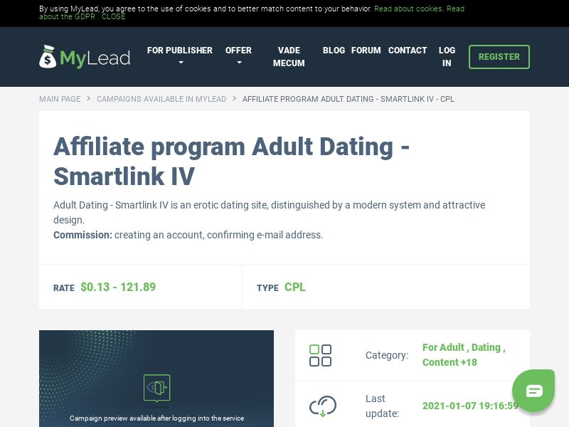 Adult Dating - Smartlink IV (MultiGeo), [CPL], For Adult, Dating, Content +18, Single Opt-In, Double Opt-In, Email Submit, women, date, sex, sexy, tinder, flirt