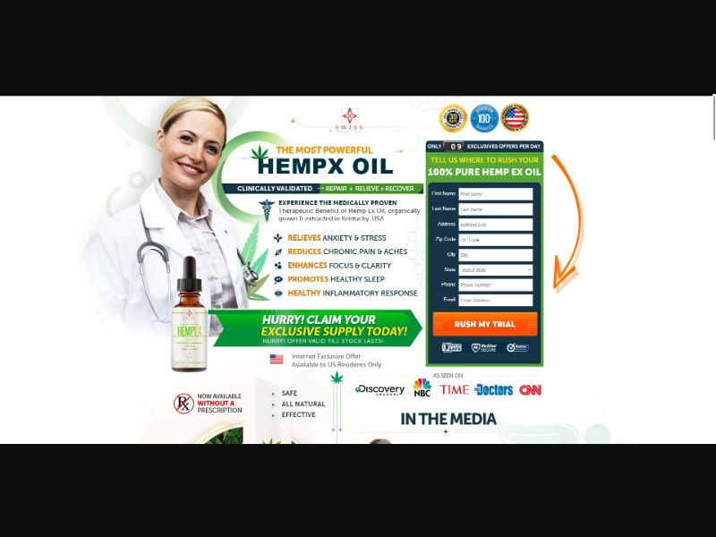 Swiss Healthy Choice HempEx Oil - CBD - Trial - [US]
