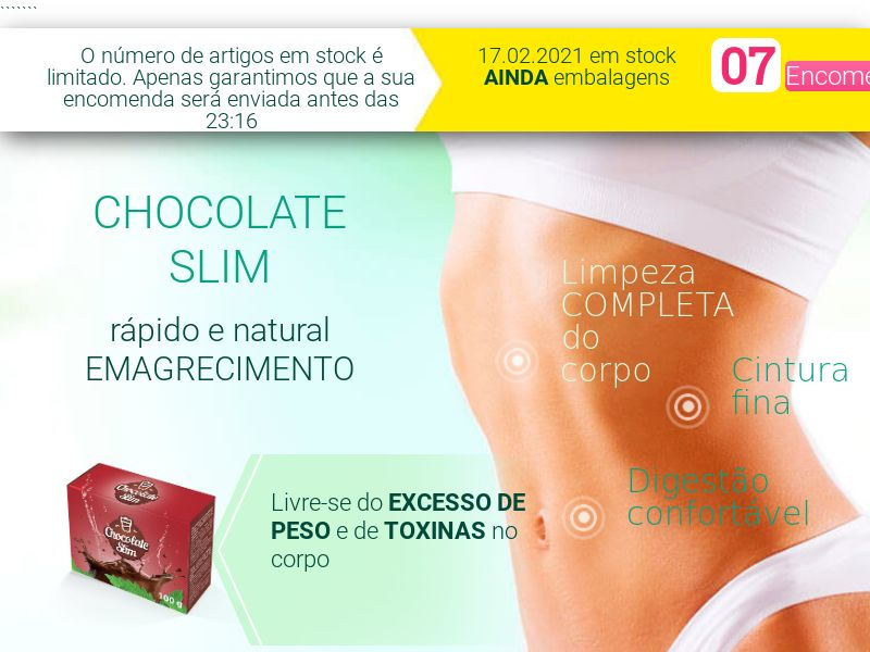 Chocolate Slim PT - weight loss treatment