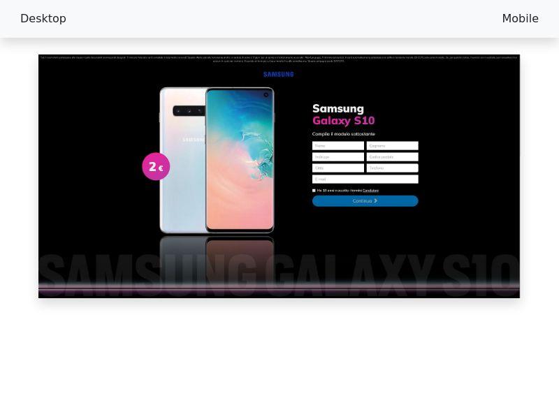 Samsung - Galaxy - S10 - CC-submit [IT]