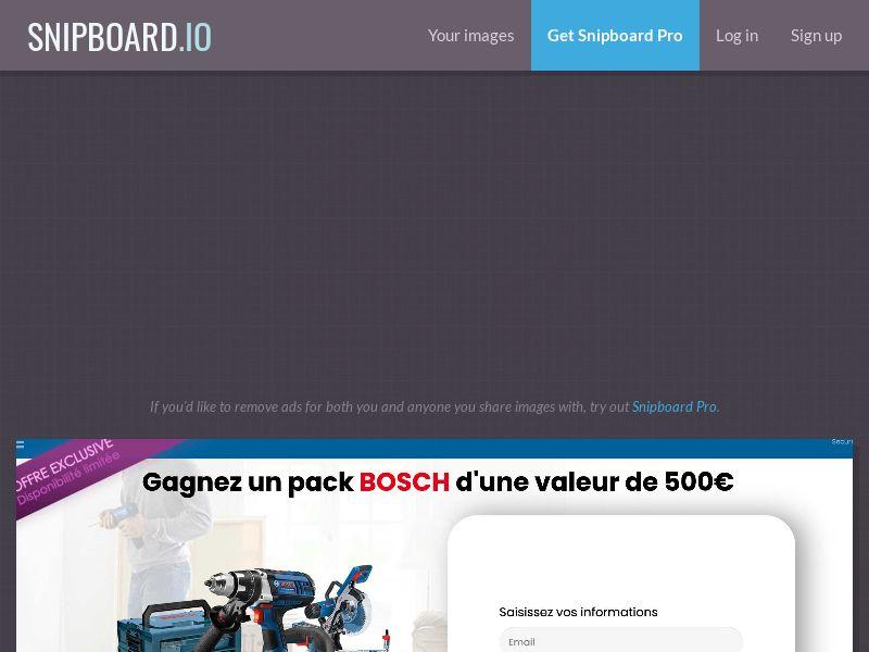 41545 - FR - CONSUMERSCONNECT - Win a bosch pack - SOI