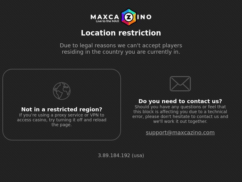 Maxcazino1.com Casino CPA - DE, AU, CA, NZ, FI & NO