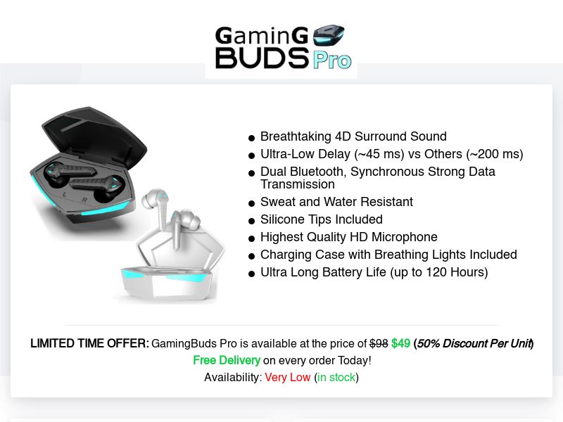 GamingBuds Pro (INTL) (CPS) (Personal Approval)