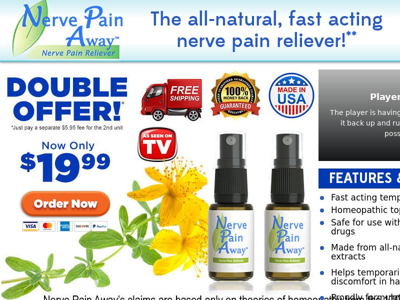 As Seen on TV Nerve Pain Away