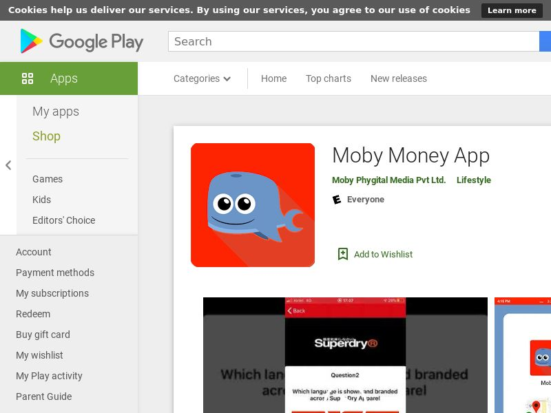 Moby Money Android App CPA - India