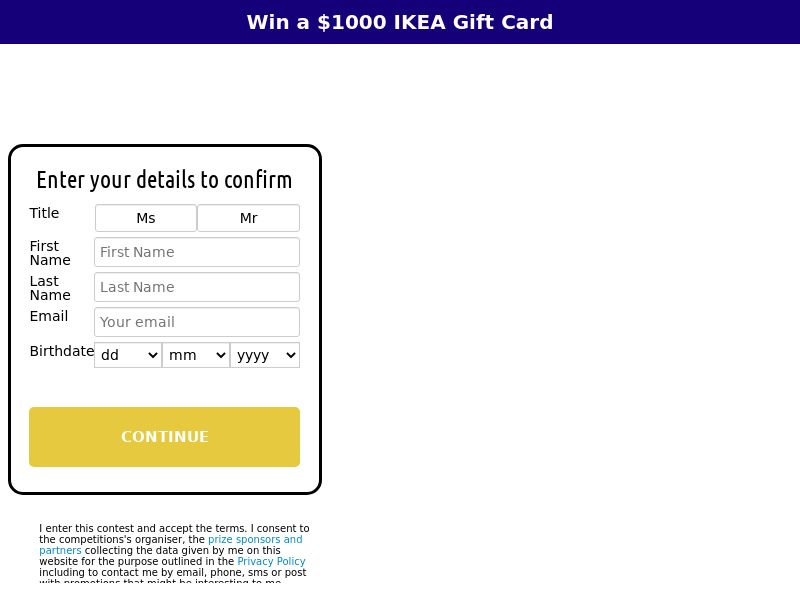 xlWin - Win a $1000 Ikea Gift Card [NZ]