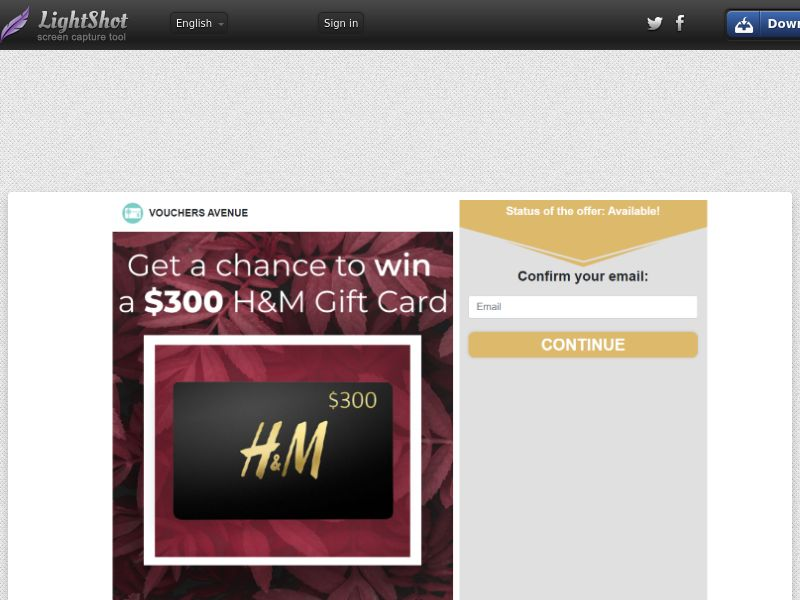Vouchers Avenue - H&M $300 Giftcard (US) (CPL) (Personal Approval)