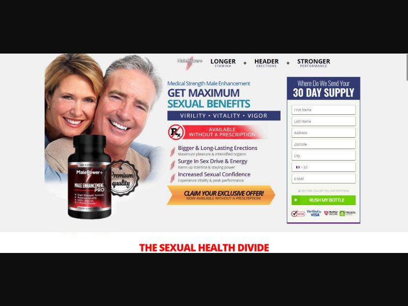 Male Power+ - Male Enhancement - Trial - [FR] - with 1-Click Upsell [Step1 $23.4 / Upsell $23.4]