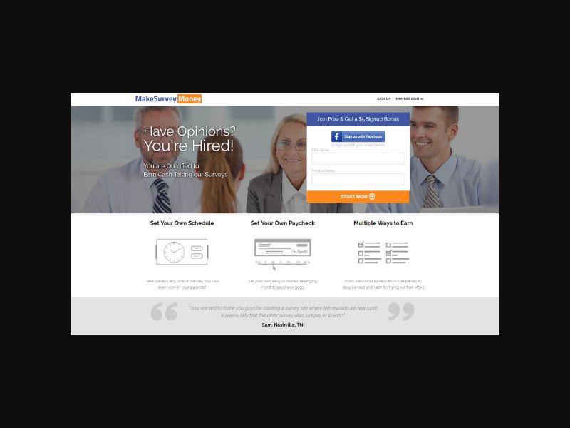 Make Survey Money (US) - CPE $9 Earnings