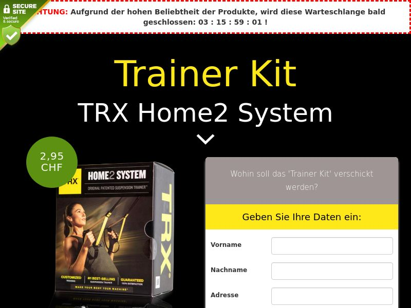 TRX Home2 System: Trainer Kit - CH